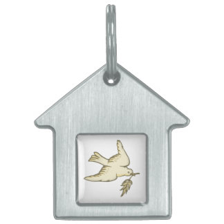 Paloma de la paz placa mascota