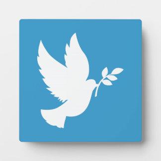 Paloma de la paz placas