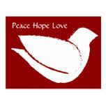 Paloma de la paz postal