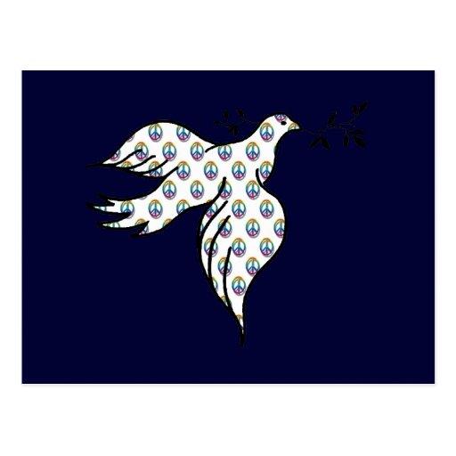 Paloma de la paz postales