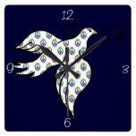Paloma de la paz reloj de pared