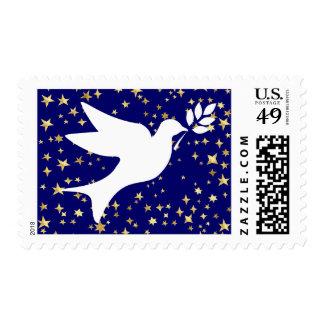 Paloma de la paz sello postal