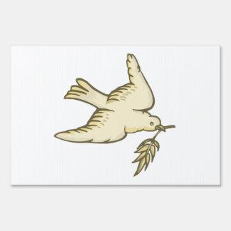 Paloma de la paz señal