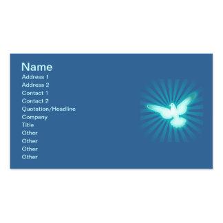 Paloma de la paz plantillas de tarjetas de visita