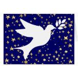 Paloma de la paz tarjeta de felicitación
