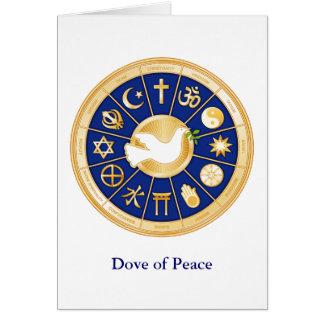 Paloma de la paz tarjeta pequeña
