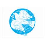 Paloma de la paz tarjeta postal