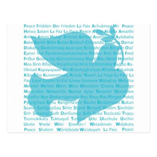 Paloma de la paz tarjetas postales