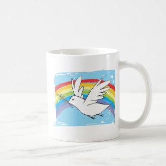 Paloma de la paz tazas de café