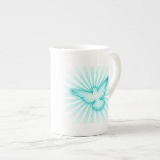 Paloma de la paz taza de porcelana