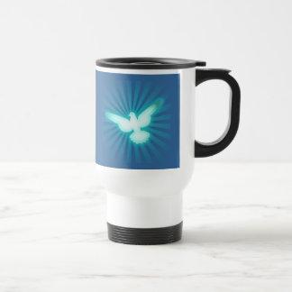 Paloma de la paz taza de viaje de acero inoxidable