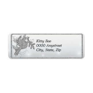 Paloma de la plata etiquetas de remite