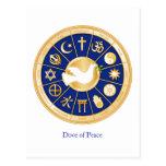 Paloma de la postal de la paz