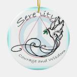 Paloma de la serenidad adorno de navidad
