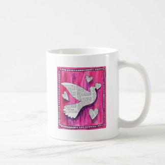 paloma de la tarjeta del día de San Valentín Tazas De Café