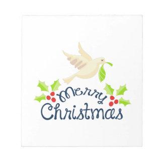Paloma de las Felices Navidad Bloc De Notas