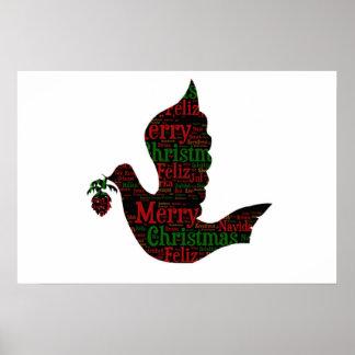 Paloma de las Felices Navidad Poster