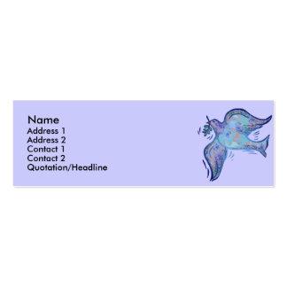 Paloma de las tarjetas del perfil de la paz tarjeta de negocio
