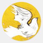 Paloma de los pegatinas de un ~ 20 de las mujeres etiquetas redondas