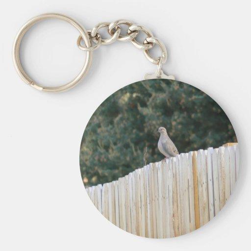 Paloma de luto llaveros personalizados