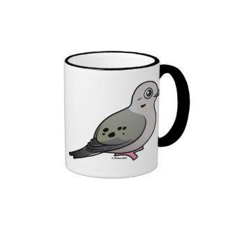Paloma de luto tazas de café