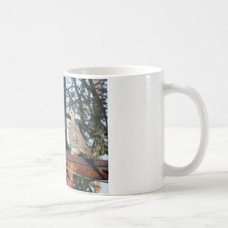 Paloma de luto taza básica blanca