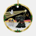 Paloma de Navidad - escocés Terrier Ornamento Para Arbol De Navidad
