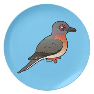 Paloma de pasajero de Birdorable Plato De Comida