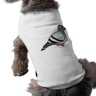 Paloma de roca linda camisa de perro