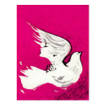 Paloma de una postal del ~ de las mujeres