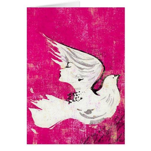 Paloma de una tarjeta/de las invitaciones del ~ de tarjeta pequeña