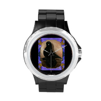 Paloma de vaso desperdiciada enmarcada relojes de pulsera