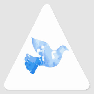 Paloma del agua calcomanías trianguloes