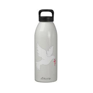 Paloma del amor botellas de beber
