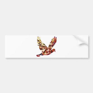 Paloma del ángel - energía cósmica roja chispeante pegatina para auto