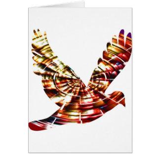 Paloma del ángel - energía cósmica roja chispeante tarjeta de felicitación
