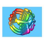 Paloma del arco iris de la paz tarjetas postales