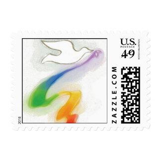 Paloma del arco iris de los sellos de la paz