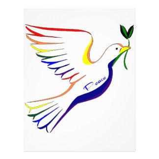 Paloma del arco iris tarjeton