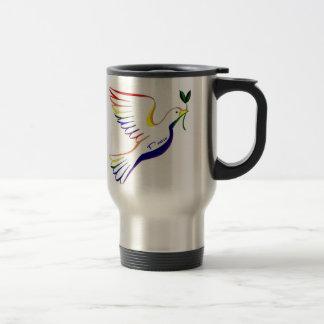 Paloma del arco iris taza de café