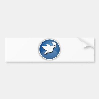Paloma del azul y blanca de la paz pegatina para auto
