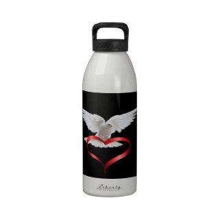 Paloma del blanco botella de beber
