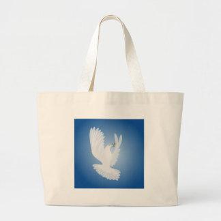 Paloma del blanco bolsas de mano