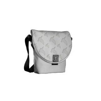 Paloma del blanco bolsas de mensajeria