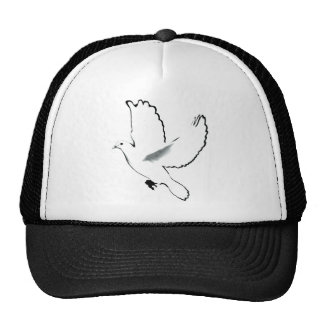 Paloma del blanco gorras de camionero