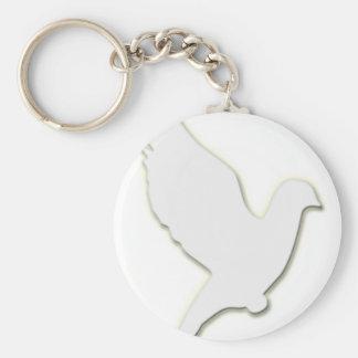 Paloma del blanco llavero