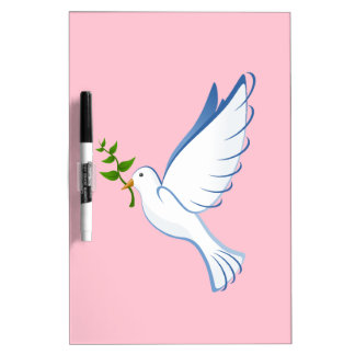 Paloma del blanco pizarra blanca
