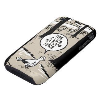 Paloma del chica del pan de jengibre iPhone 3 tough funda