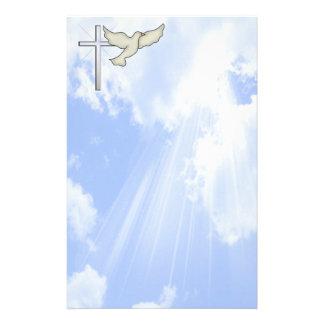 Paloma del cristiano inmóvil papelería de diseño