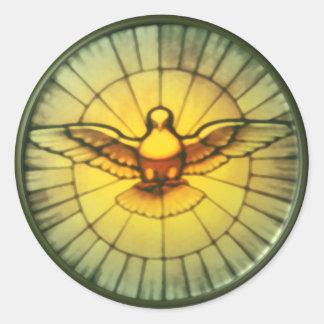 Paloma del Espíritu Santo Pegatina Redonda